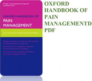 oxford handbok of pain managements pdf