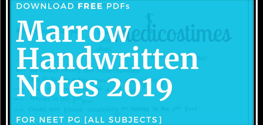 Marrow handwritten notes 2019 pdf
