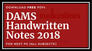DAMS handwritten notes 2018 pdf