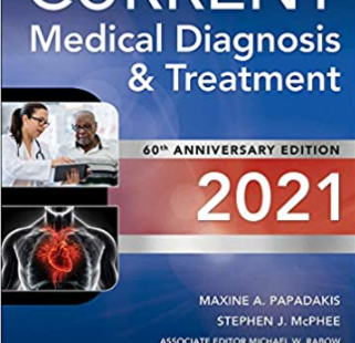 Current Medical Diagnosis and Treatment 2021 60th Edition PDF