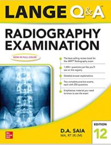Lange Q & A Radiography Examination 12th Edition PDF free