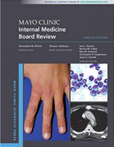 Mayo Clinic Internal Medicine Board Review 12th Edition PDF Free